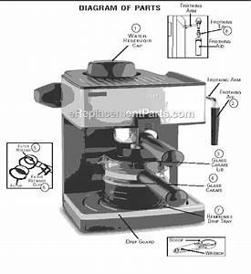 Mr  Coffee Ecm160 Parts List And Diagram