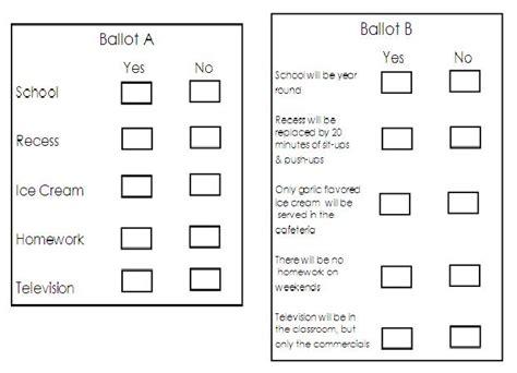 Free Printable Ballots For Students  Just Bcause