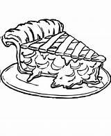 Pie Coloring Apple Printable Piece Slice Thanksgiving Fall Getdrawings Cherry Kidsdrawing sketch template