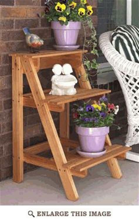 garden plant stand woodworking plan outdoor patio