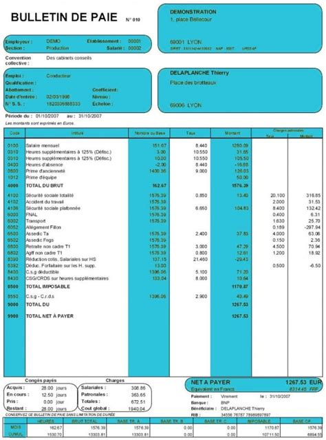 modele fiche de paie president sasu bulletin de paie cadre dirigeant