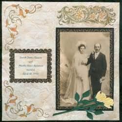 wedding scrapbook vintage wedding day scrapbook layout favecrafts