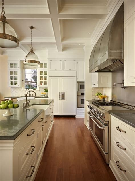 white and grey traditional kitchen white cabinets with gray countertops traditional White And Grey Traditional Kitchen