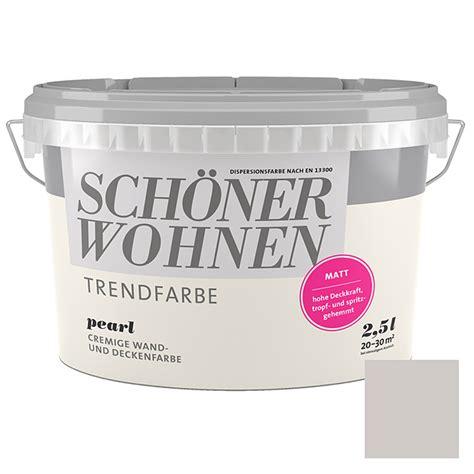 Schöner Wohnen Bauhaus by Sch 246 Ner Wohnen Wandfarbe Trendfarbe Pearl 2 5 L Matt