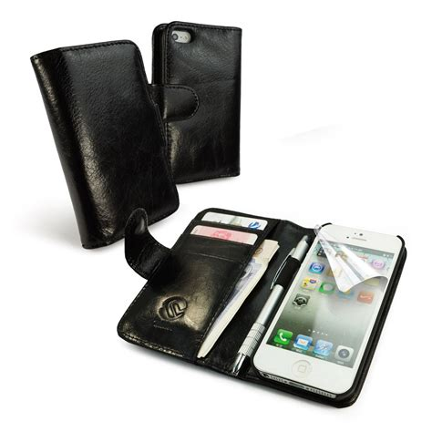 wallet phone iphone 5 tuff vintage leather wallet style cover for apple