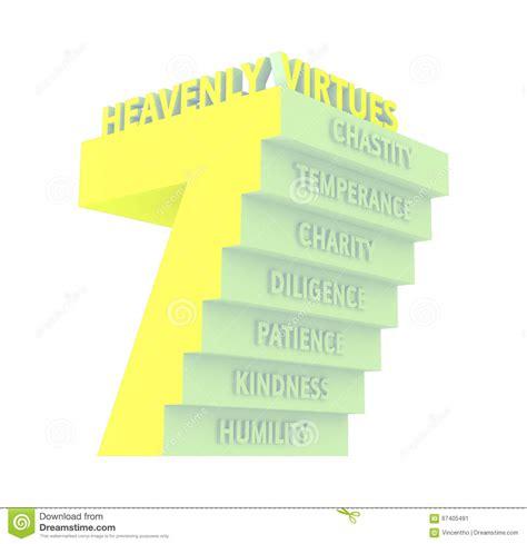 7 Seven Heavenly Virtues Illustration Stock Image