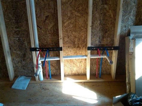 teardown plumbing progress pex bathroom