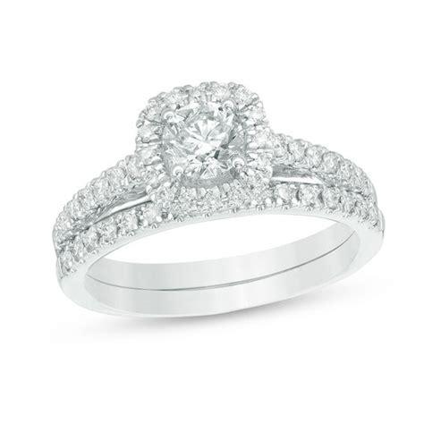 2 ct t w diamond frame bridal in 14k white gold wedding zales