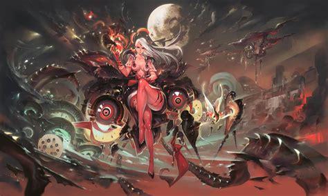 Anime Artwork Wallpaper - artwork anime cyborg spaceship planet