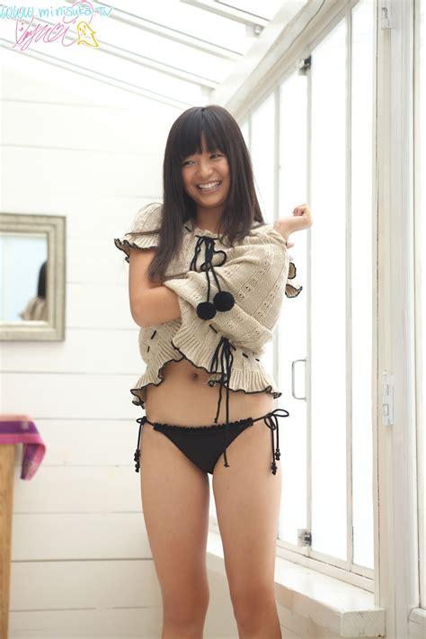 Mayumi Yamanaka Japanese Cute Idol Sexy White Mini Skirt And Grey Shirt Fashion Photoshoot JAV