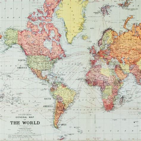 Toile Carte Du Monde Vintage by Carte Du Monde Ancienne R 233 Edition Map Monde Vintage