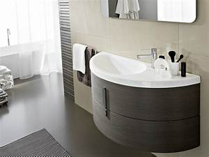 meuble sous vasque simple avec miroir comp m08 by ideagroup With meuble salle de bain demi lune