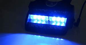New 18 LED Blue Strobe Emergency Flashing Warning Light ...