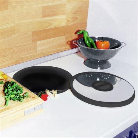 poubelle cuisine encastrable dans plan de travail poubelle plan de travail 13l noir inox sokleo oskab