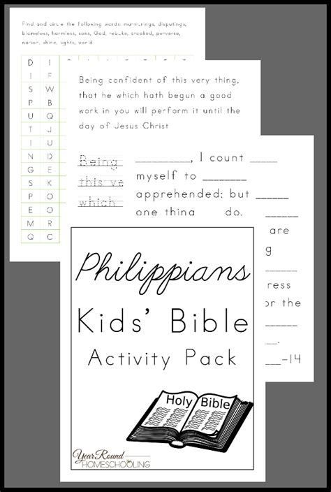 free bible activity for philippians