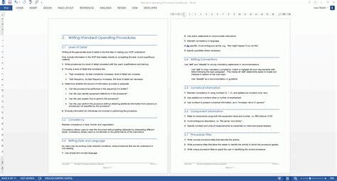 procedure template ms word standard operating procedure