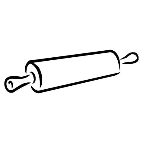 pictogramme cuisine gratuit coloriage rouleau de patisserie à imprimer