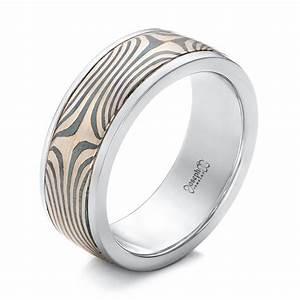 Men39s Platinum And Mokume Wedding Band 102130 Seattle