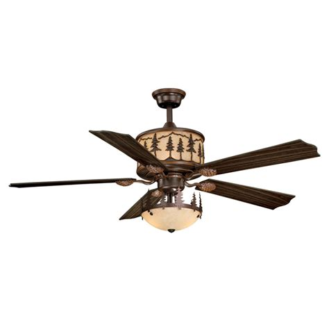 big sky ceiling fan with pine tree light