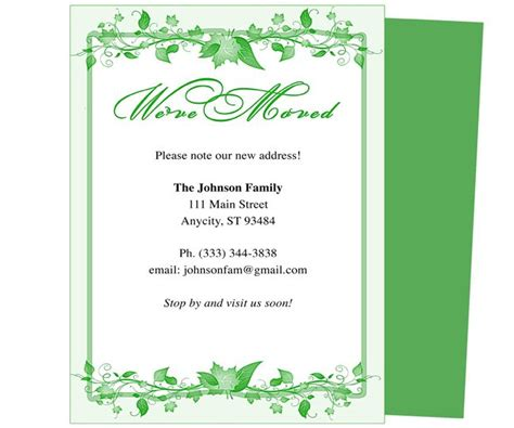 we moved cards template moving announcements and we ve moved postcards templates