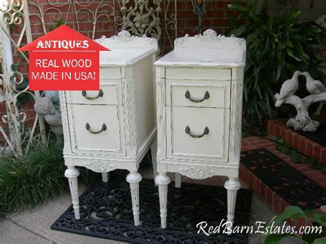 restored shabby chic furniture painted antique nightstands pair of nightstands custom sourced restored and painted to order