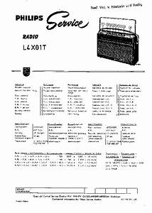 Philips 834a Vintage Radio Sm Service Manual Free Download