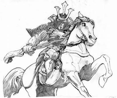 Samurai Drawing Pencil Warrior Drawings Tattoo Sketch
