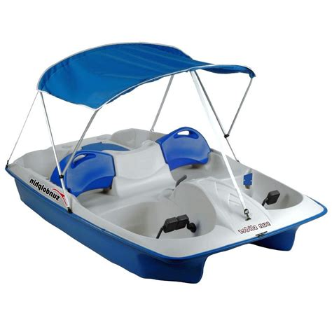 Paddle Boat For Sale On Ebay by Paddle Boat Canopy Pontoon Pedal Raft 5 Ppl Lake River