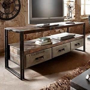 Sideboard Vintage Antik TV Lowboard Metall Holz