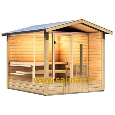 sauna exterieur avec sauna bosse avec vestiaire karibu 273 x 231 cm sauna ext 233 rieur