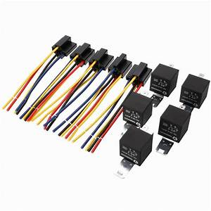 5 Set 12v 40a 5 Pin 5 Pin Automotive Relay With Relay