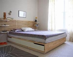 Lit Bois Massif Ikea : tete de lit ikea mandal ~ Teatrodelosmanantiales.com Idées de Décoration