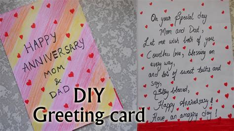 happy anniversary greeting card  simple
