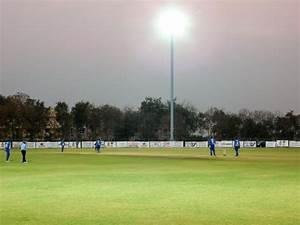 Cricket ground with flood lights in hyderabad