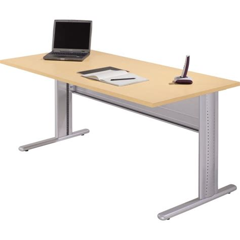 table de bureau but table de bureau rectangulaire pieds fixes h s