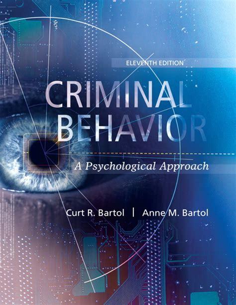 bartol bartol criminal behavior  psychological