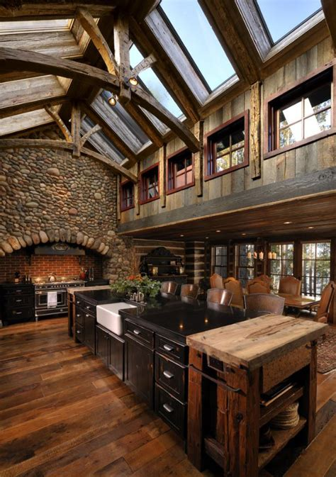 rustic country kitchens rustic kitchens design ideas tips inspiration 2046