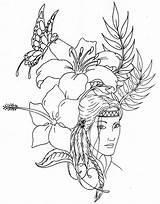 Printable Native American Coloring Adult Pages Designs Printablee sketch template