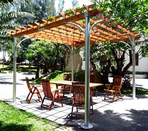 best wood for pergola buy contemporary aluminum post wood top pergola