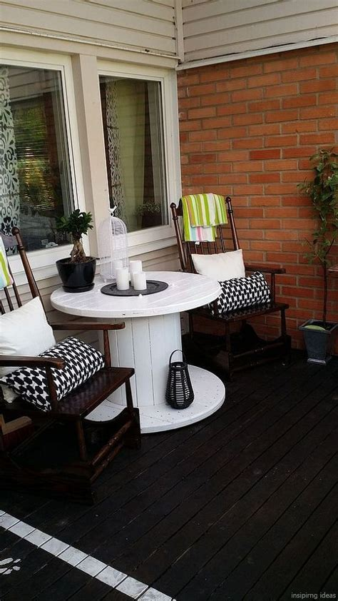 Cheap Porch Furniture by 56 Clever Diy Recycled Spool Furniture Ideas For Outdoor