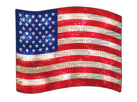 impact innovations patriotic shimmer lighted flag window