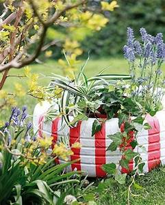 37, Easy, And, Cheap, Beautiful, Diy, Garden, Decor, With, Used, Tire, Ideas