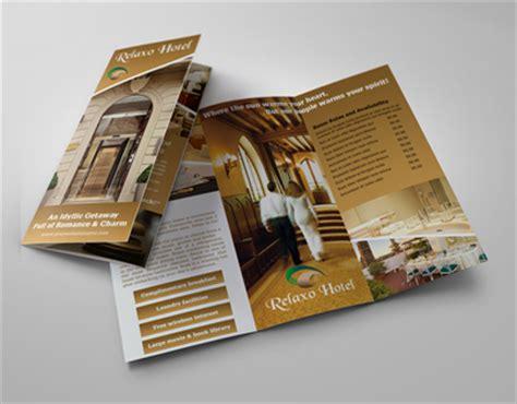 hotel  motel tri fold brochure template  behance