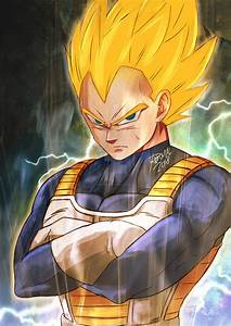Dragon Ball Z : Super Saiyan Vegeta by artoframnismal on ...