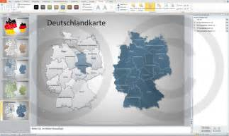 powerpoint designs kostenlos deutschlandkarte politisch