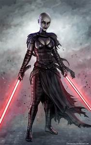 How to draw asajj ventress