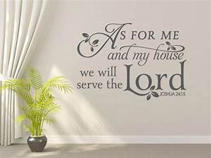 religious wall decal as for me and my house code 087 With what kind of paint to use on kitchen cabinets for christian wall art with scripture