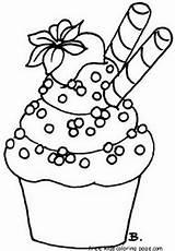 Cupcake Coloring Pages Printable Preschool sketch template