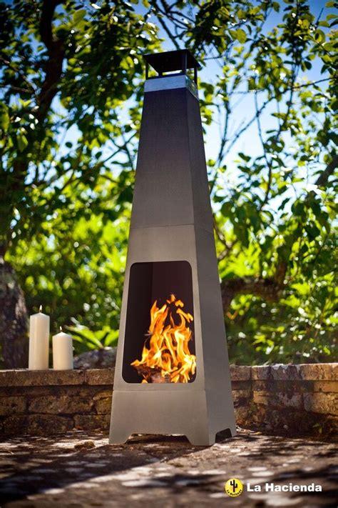 la hacienda contemporary tall steel chiminea ebay