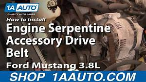 How To Install Replace Engine Serpentine Accessory Drive